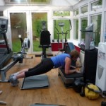Me Vibroplate Toning Training In My Personal Training Gym